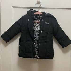 Black Guess coat for baby girl